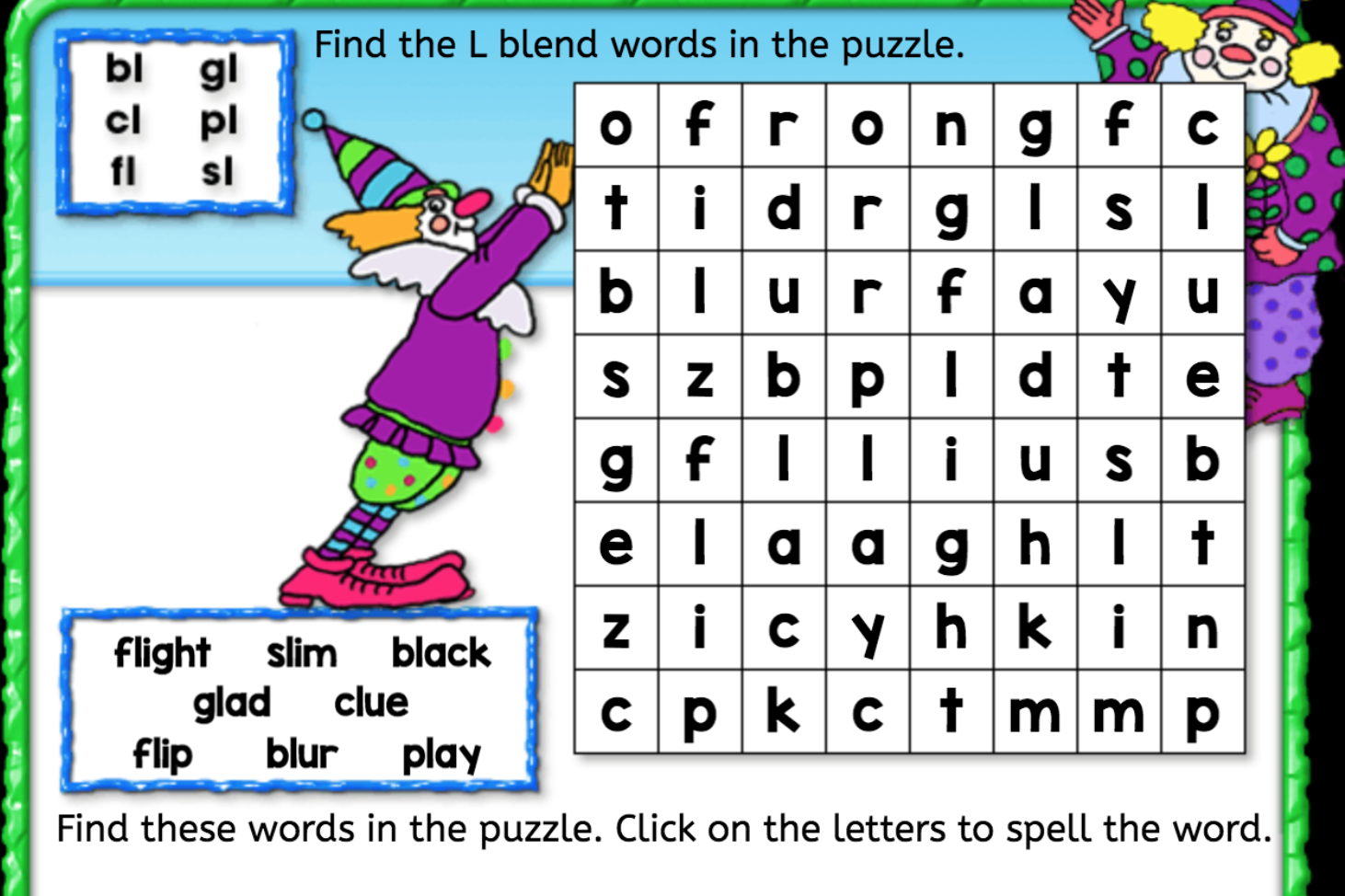 Worksheets L Blends Worksheets word search l blend interactive worksheets anywhere teacher