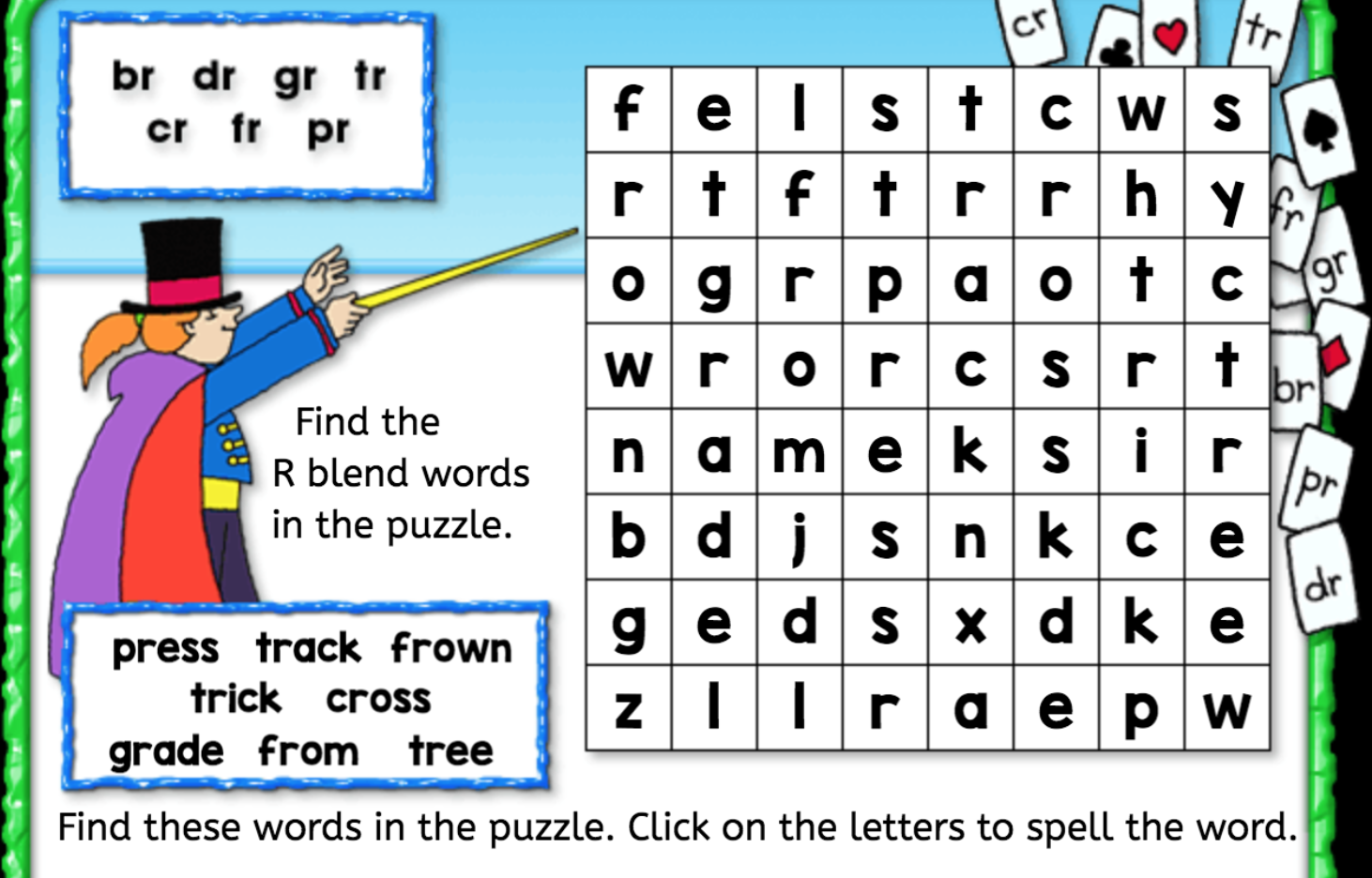 Uncategorized R Blends Worksheets word search r blend interactive worksheets anywhere teacher