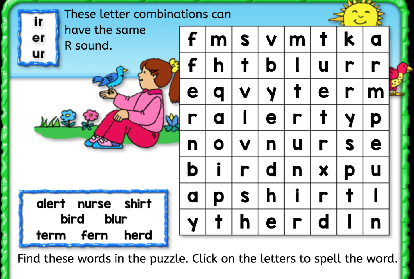 Word Search er ir ur Interactive Worksheets