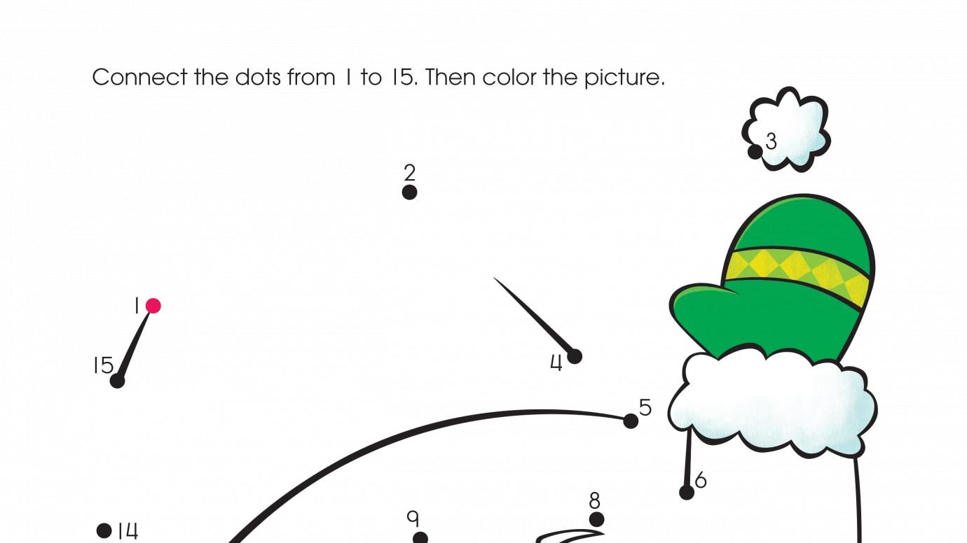 Holiday Santa Claus Dot-to-Dots 1-15