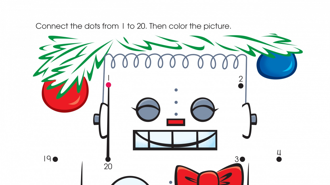 Holiday The New Toy Dot-to-Dots 1-20