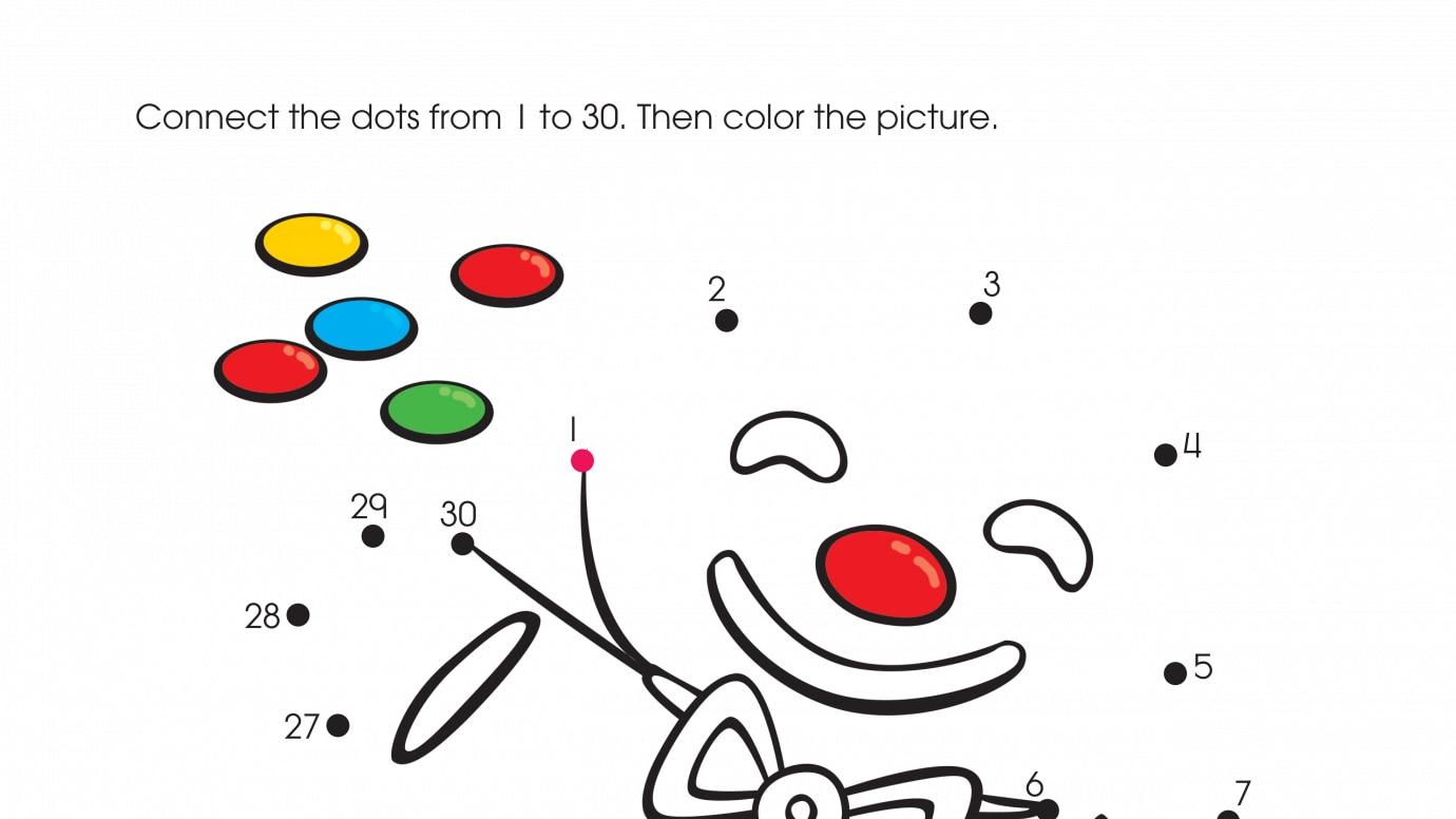 holiday a christmas treat dot to dots 1 30 printable activities