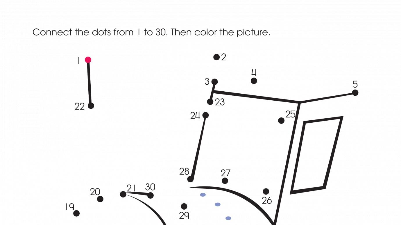 holiday chugging along dot to dots 1 30 printable activities