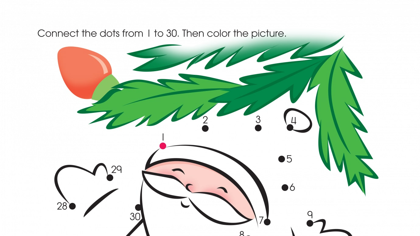 Holiday Tree Trimmings Dot-to-Dots 1-30 | Printable Activities ...