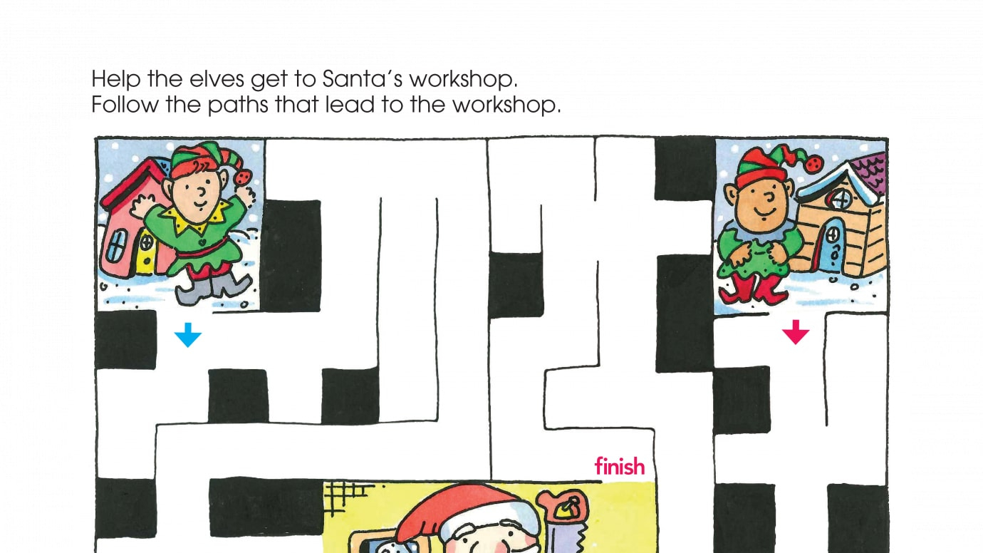 Holiday Santa's Workshop Maze