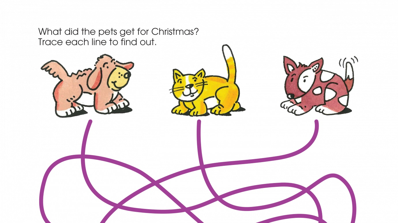 "Holiday Santa ""Paws"" Is Coming Spaghetti Maze"