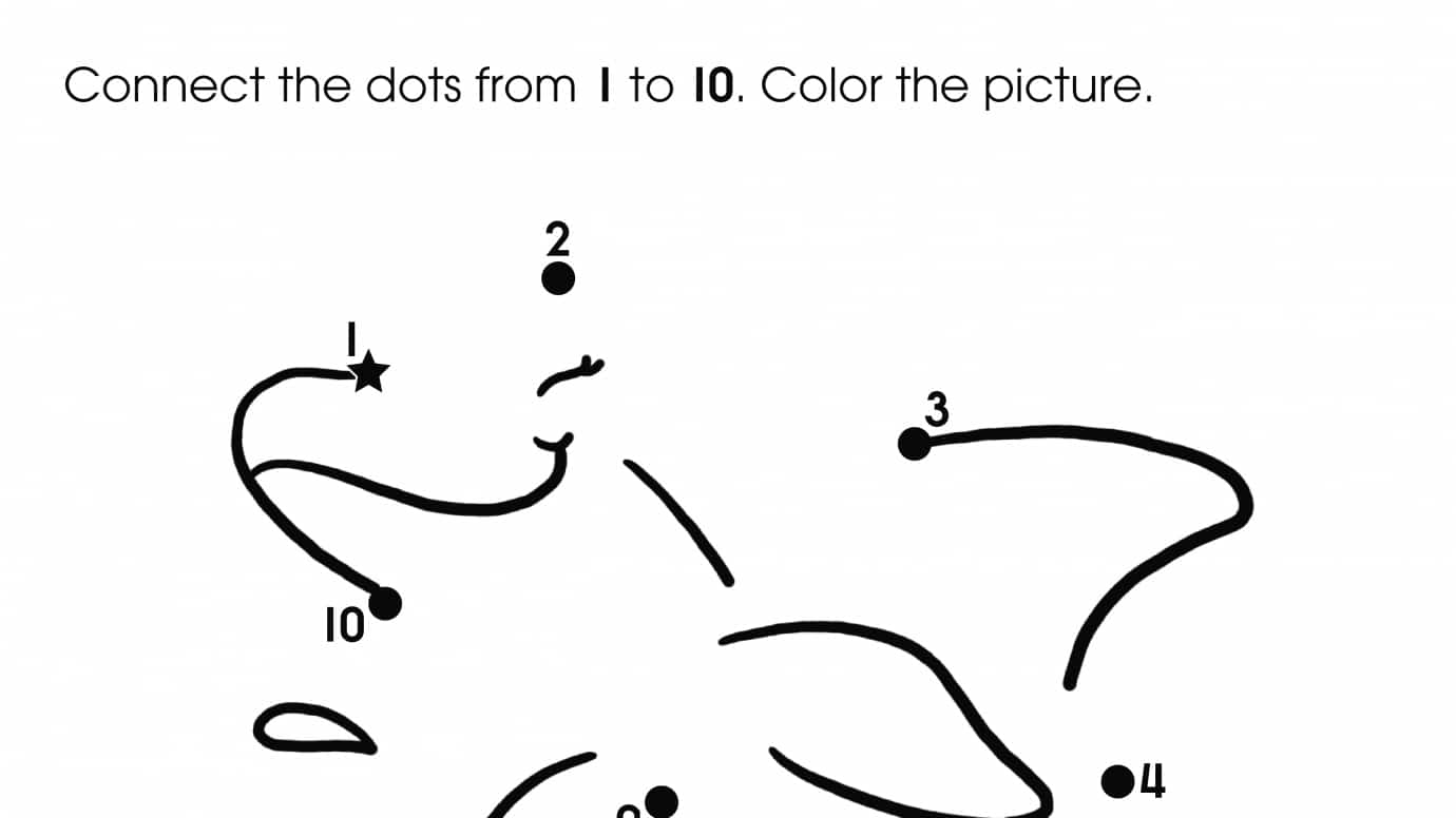 Dot-To-Dots 1-10 Dolphin