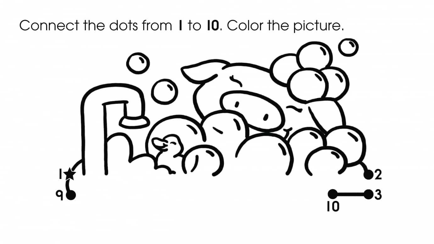 Dot-To-Dots 1-10 Bubblebath