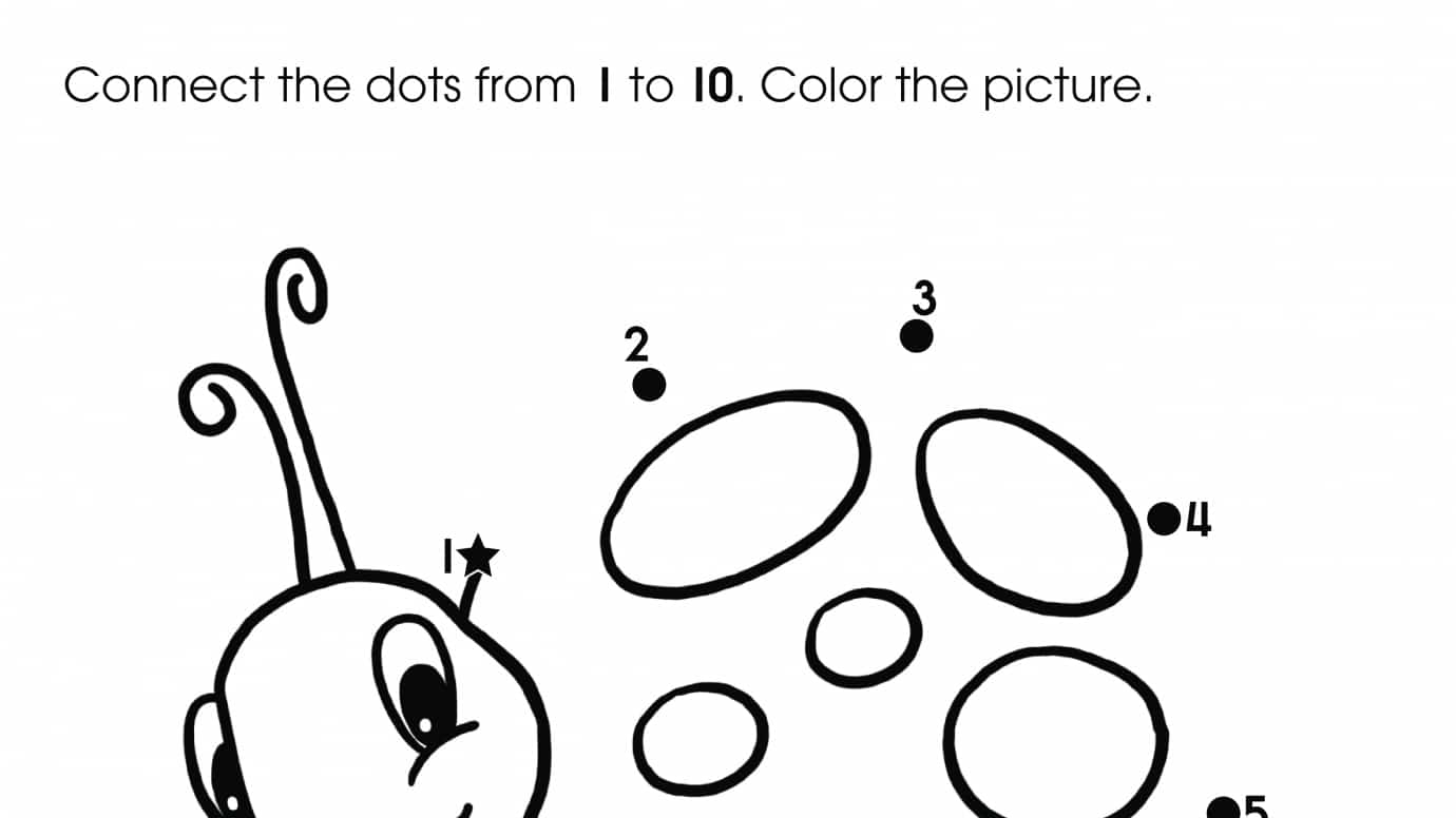 Dot To Dots 1 10 Ladybug Printable Activities Anywhere Teacher