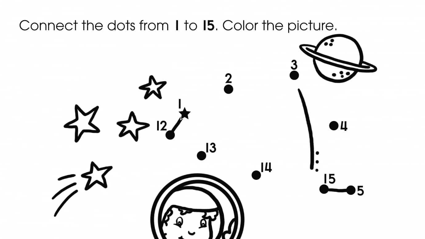 picture about Rocket Printable named Dot-Towards-Dots 1-15 Rocket Printable Functions Any where