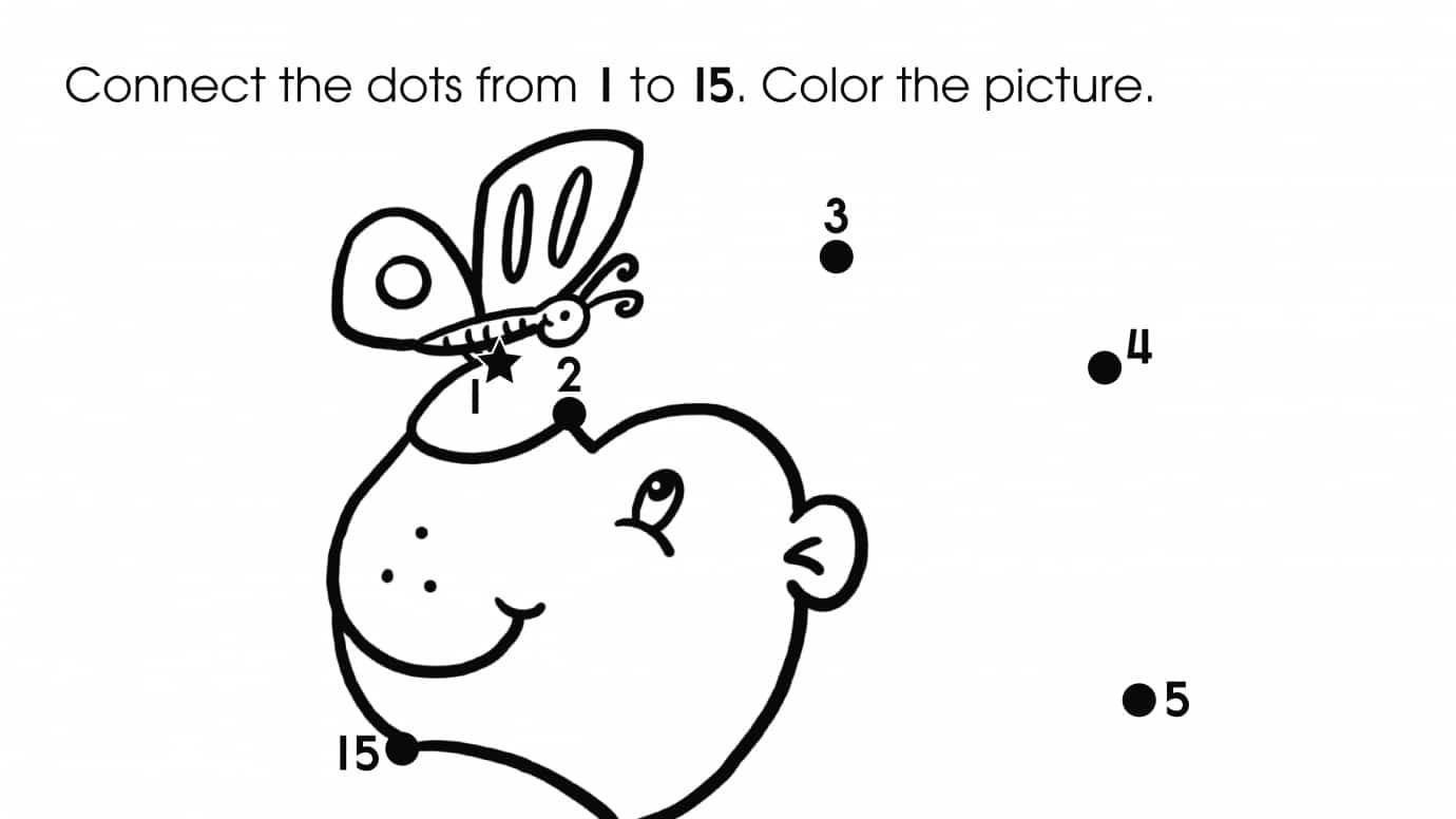 Dot-To-Dots 1-15 Lion