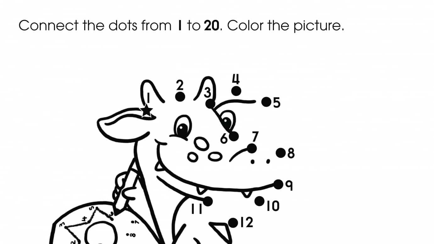 Dot-To-Dots 1-20 Dragon