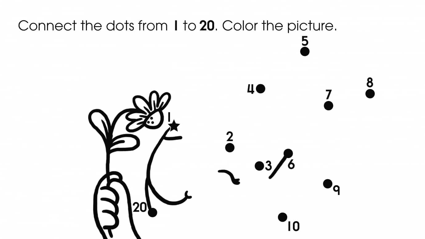 Dot-To-Dots 1-20 Bunny