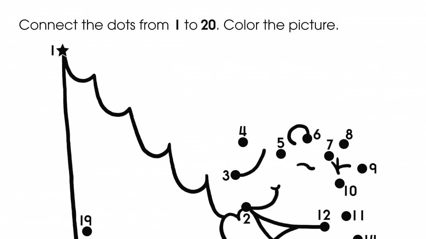 Dot-To-Dots 1-20 Fishing