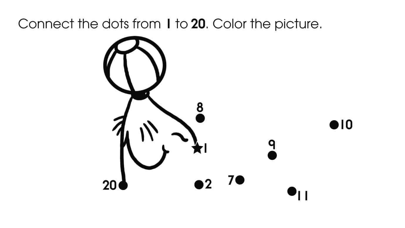 Dot-To-Dots 1-20 Seal | Printable Activities | Anywhere Teacher