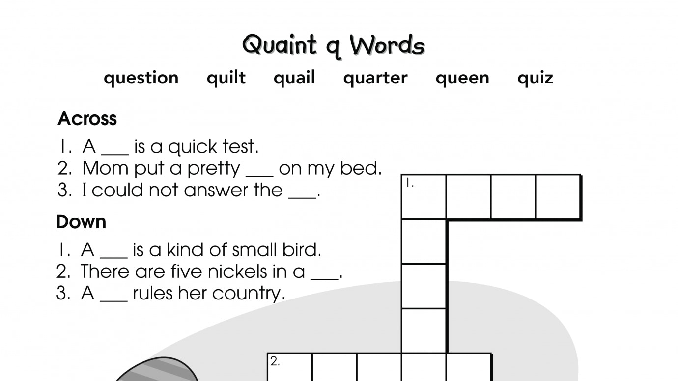Crossword Puzzle q Words