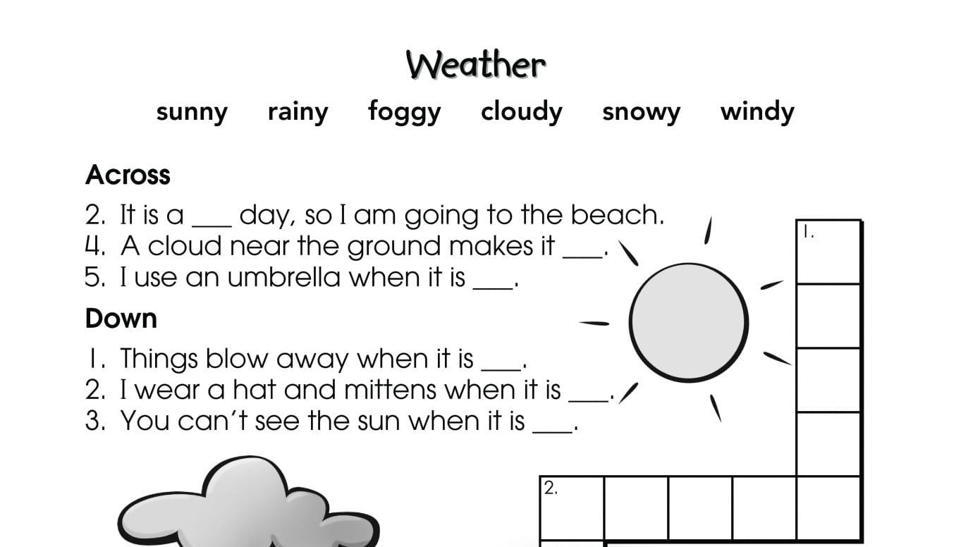 Crossword Puzzle Weather
