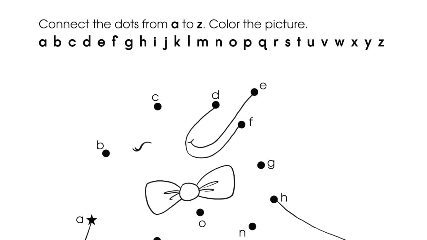Alphabet Lowercase Dot-To-Dots