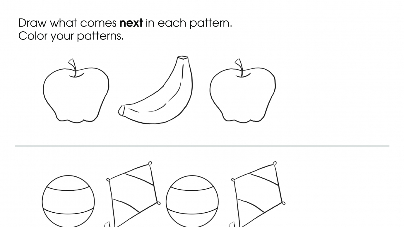 Draw & Color Patterns
