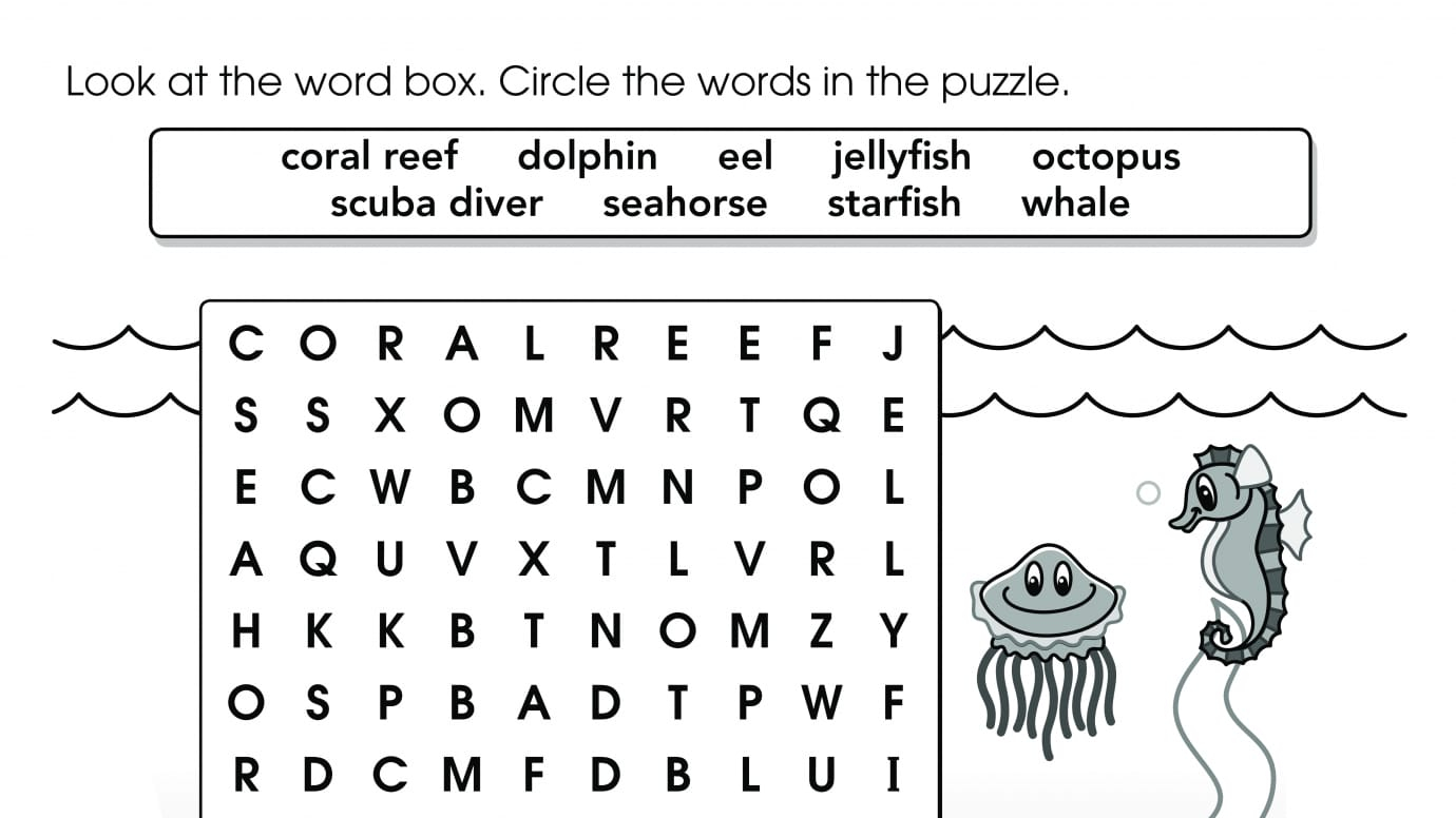 word search under the sea printable activities page 3