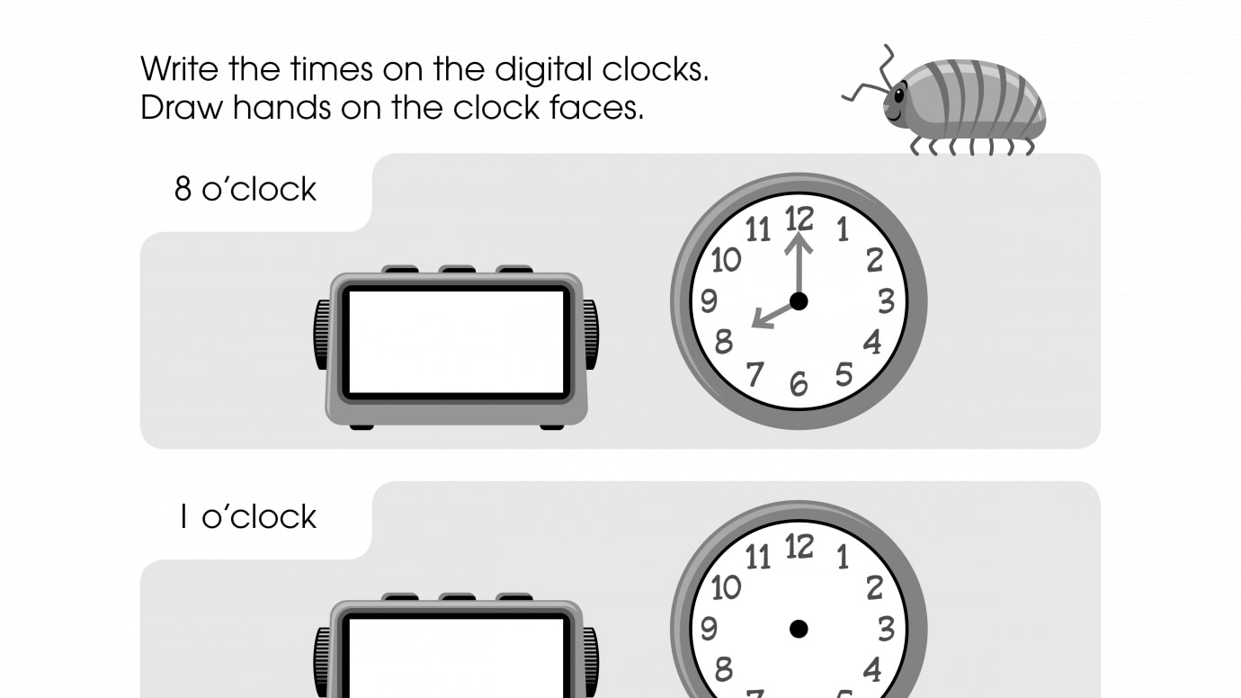 Write the Time and Draw the Clock Hands