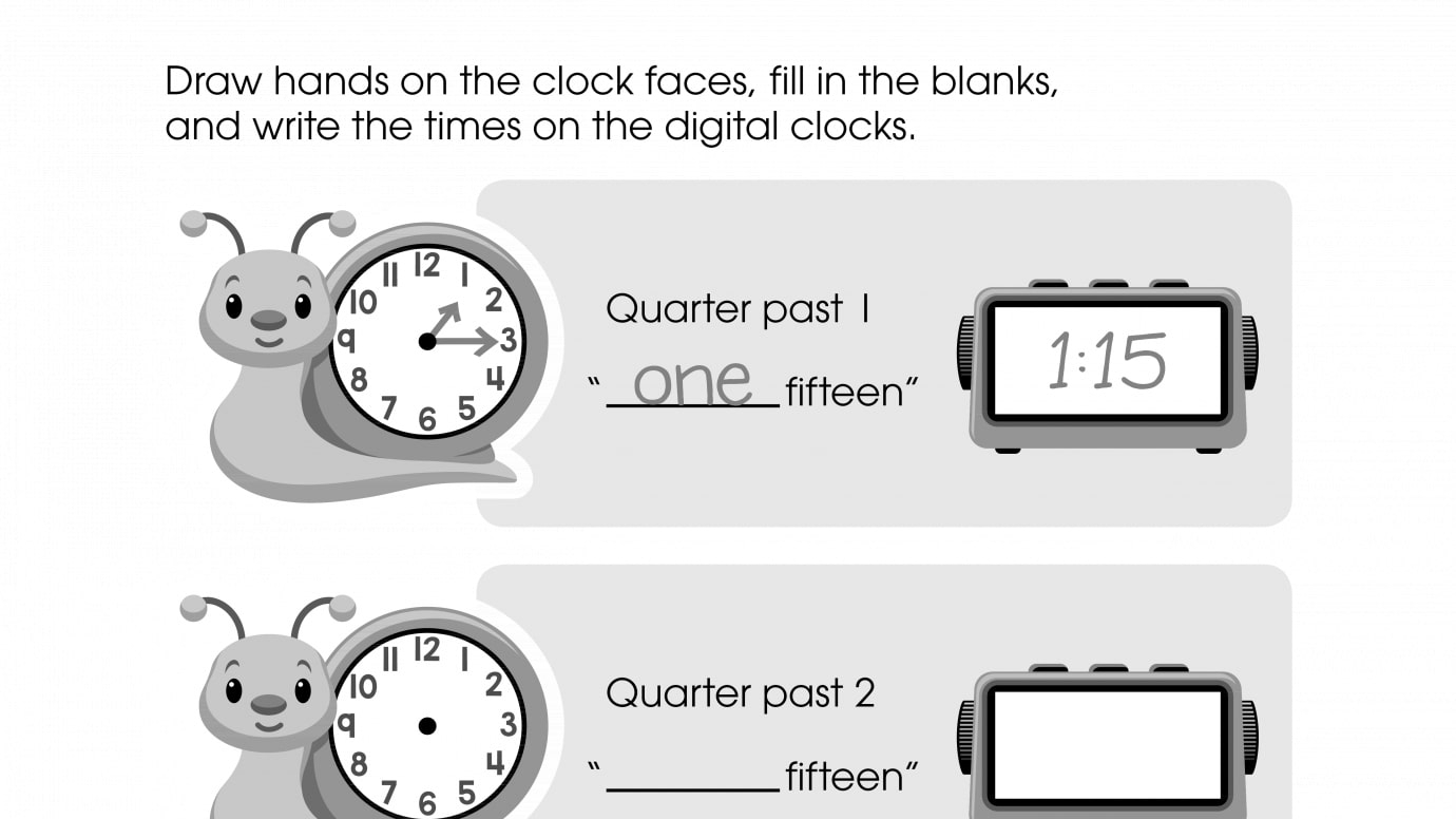 photograph regarding Clock Hands Printable titled Attract the Clock Hand, Fill within just the Blank, and Generate the Year