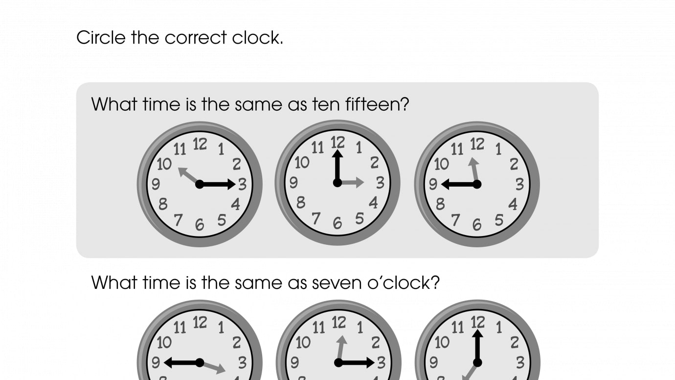 Circle the Correct Time
