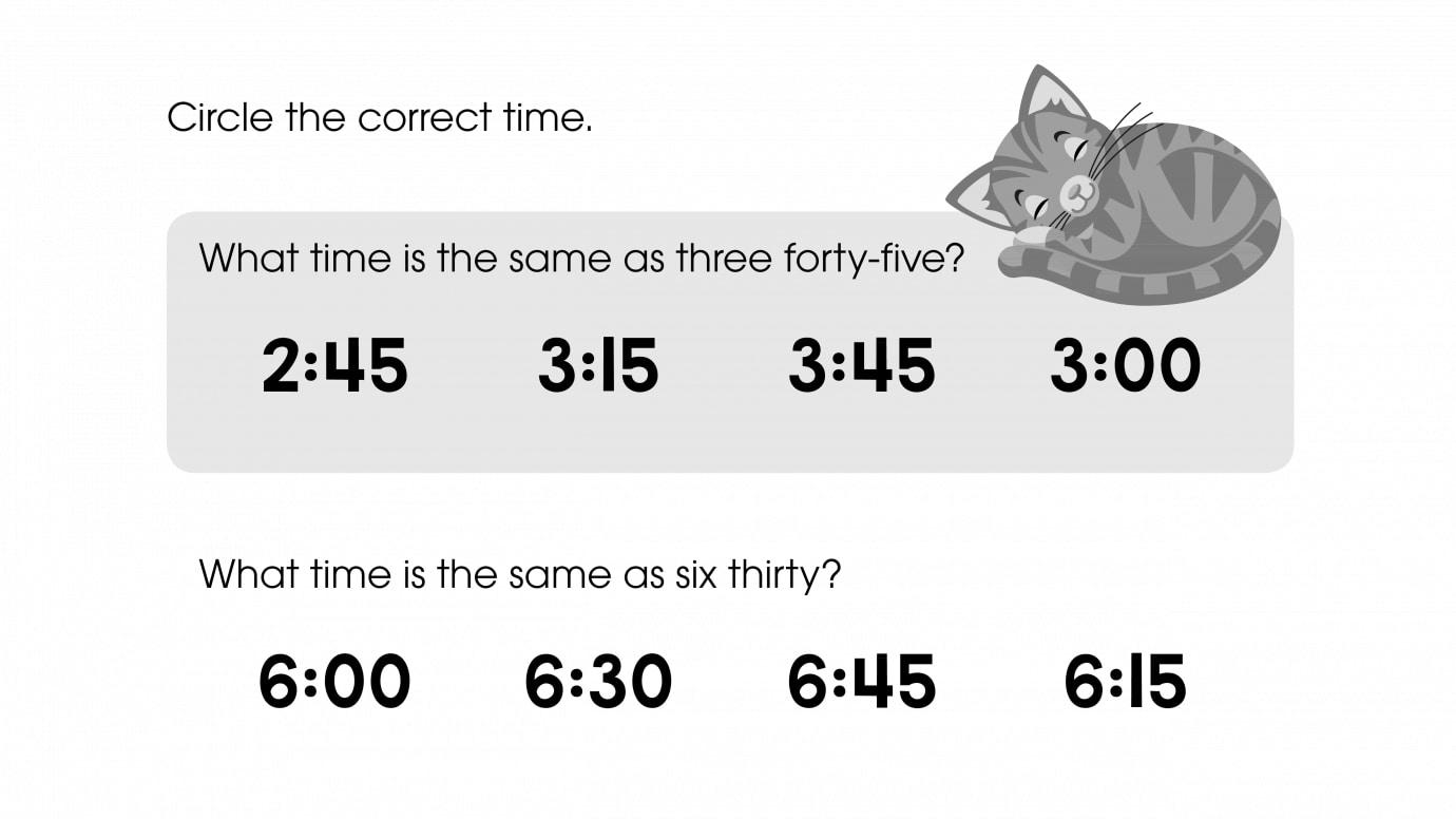 Circle the Correct Time