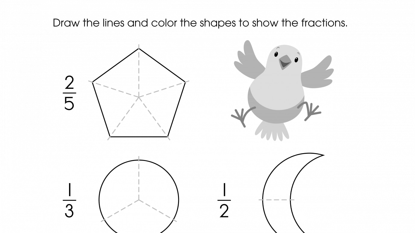 Draw Lines to Show Equal Parts