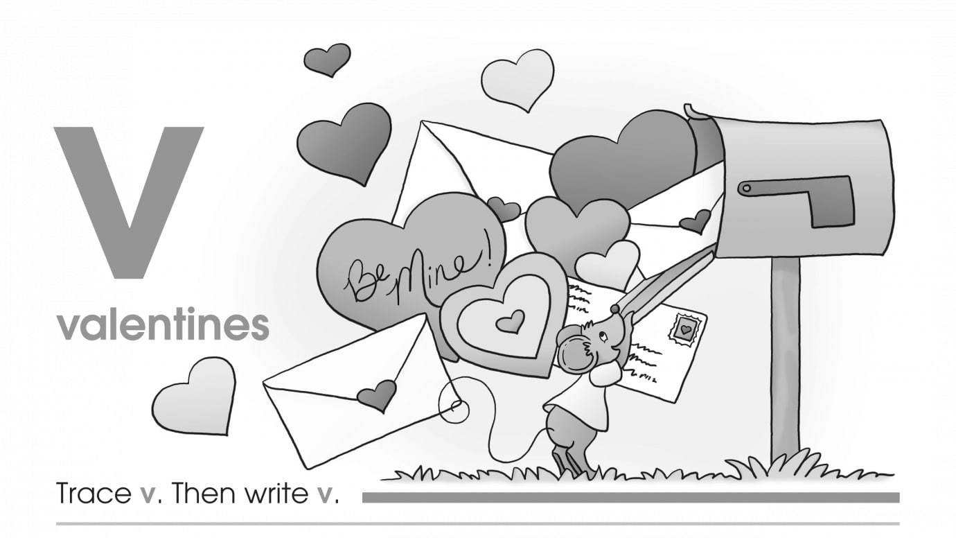 Valentine's Day Trace & Write V