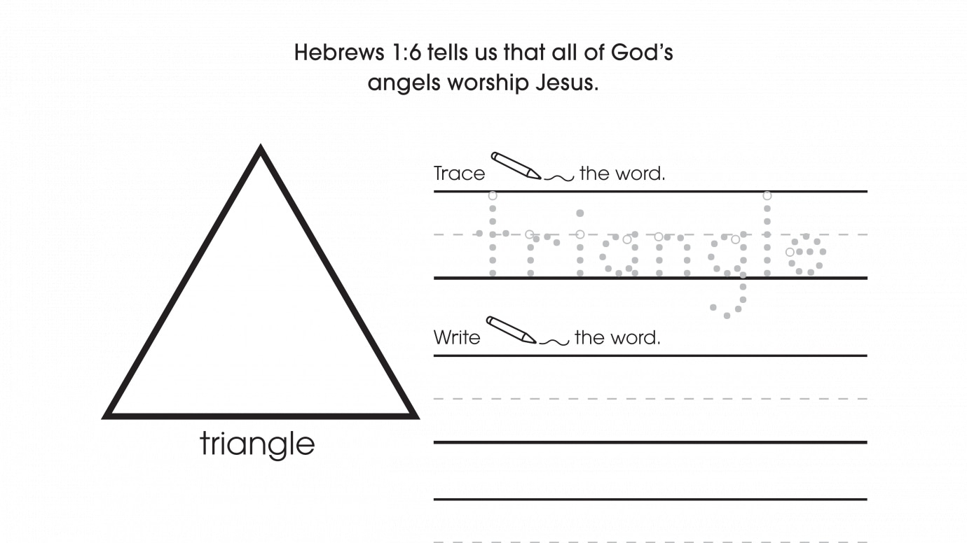 photo relating to Printable Triangles known as Inspirational Hint, Compose Attract Triangles Printable