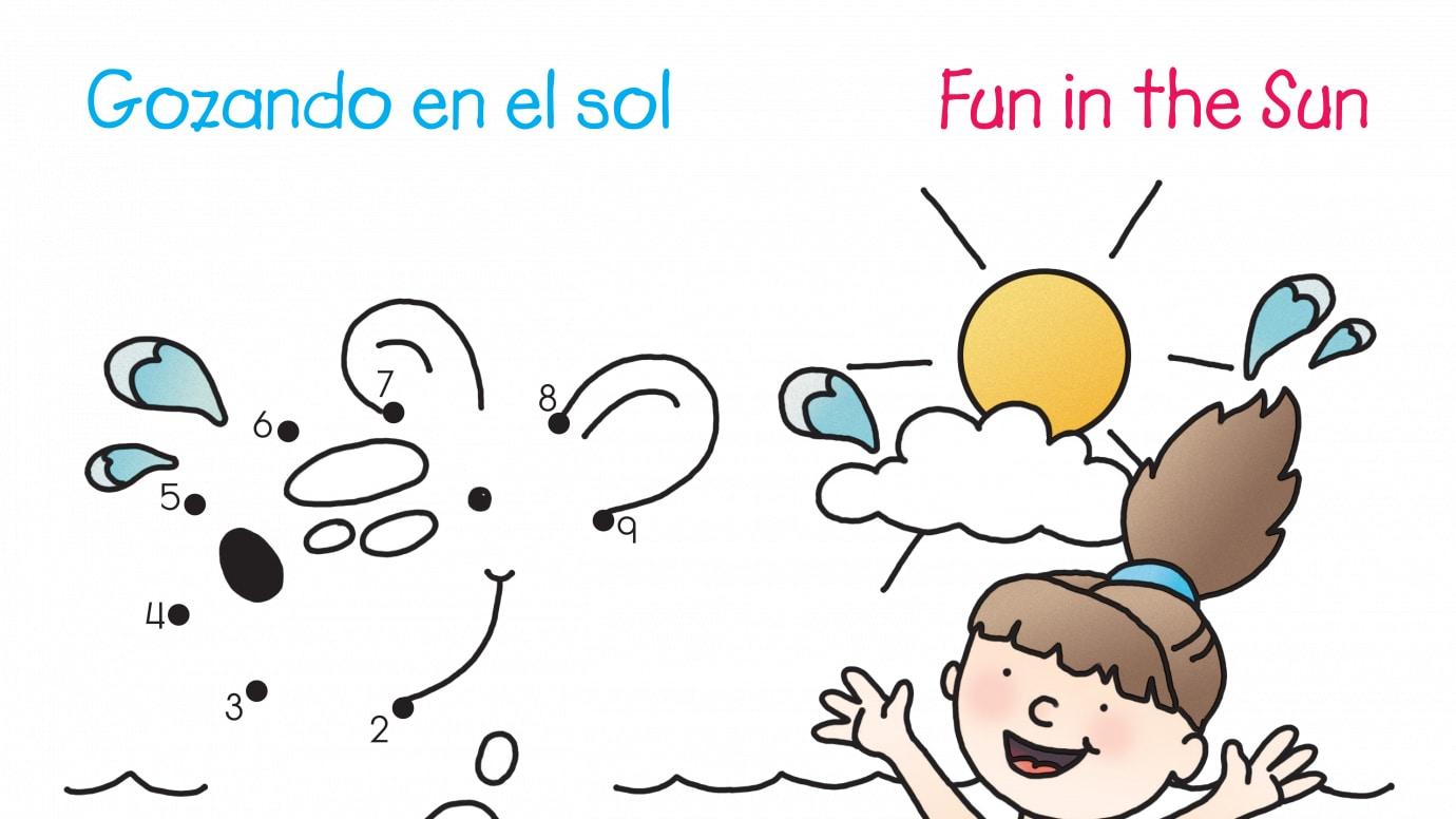 Spanish & English Fun In The Sun Dot-to-Dots 1-15