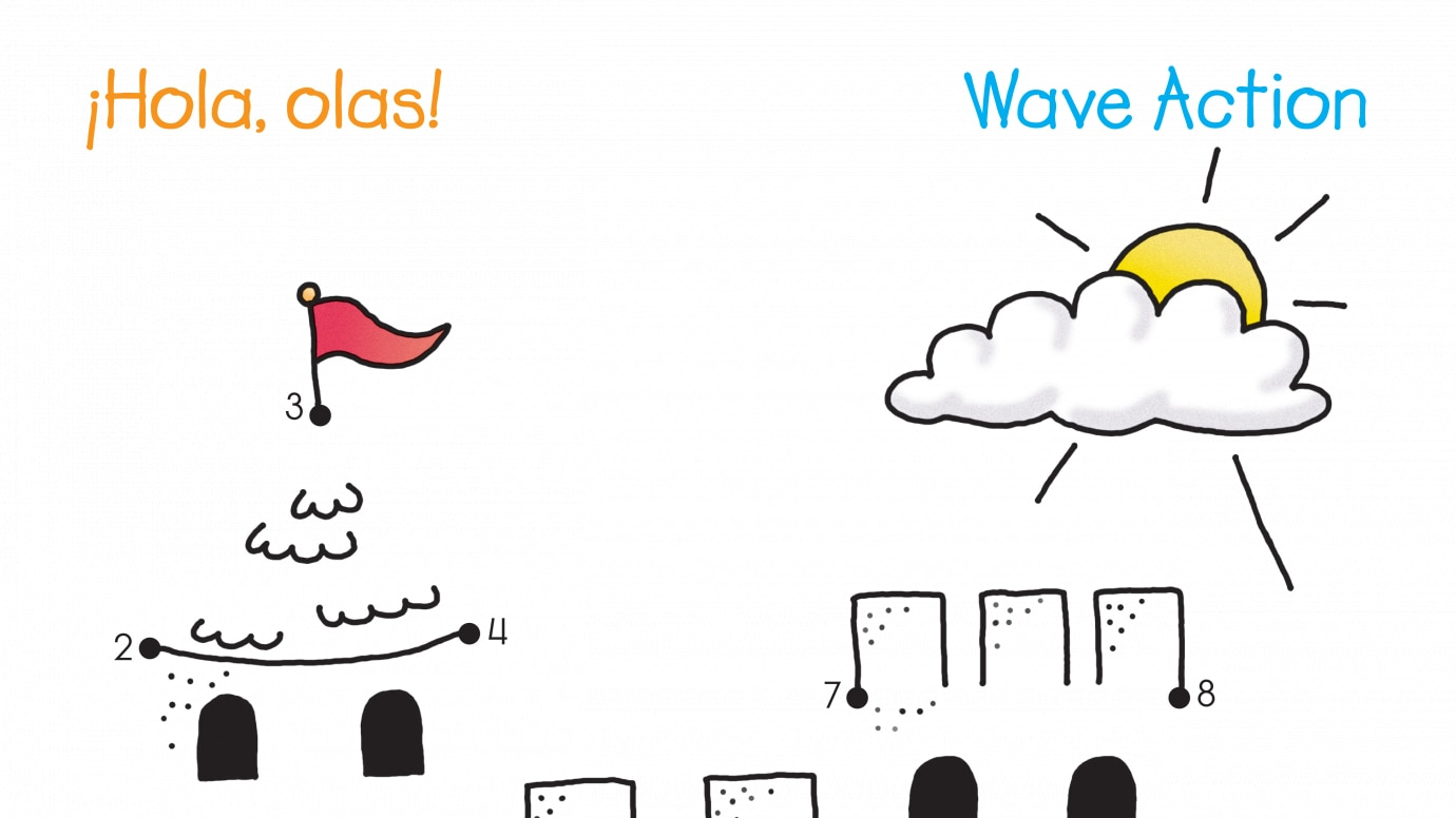 Spanish & English Wave Action Dot-to-Dots 1-15