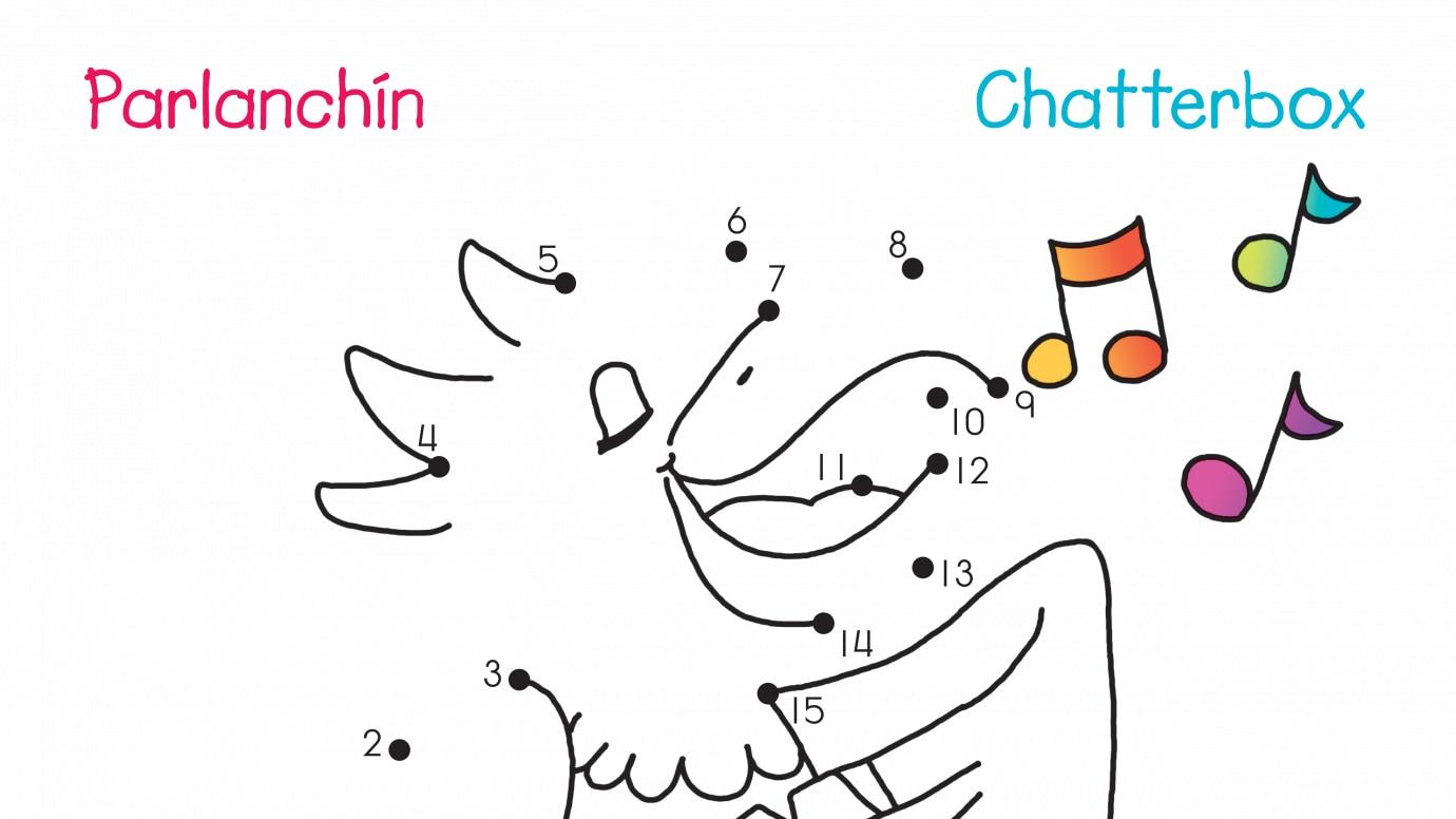 Spanish & English Chatterbox Dot-to-Dots 1-15