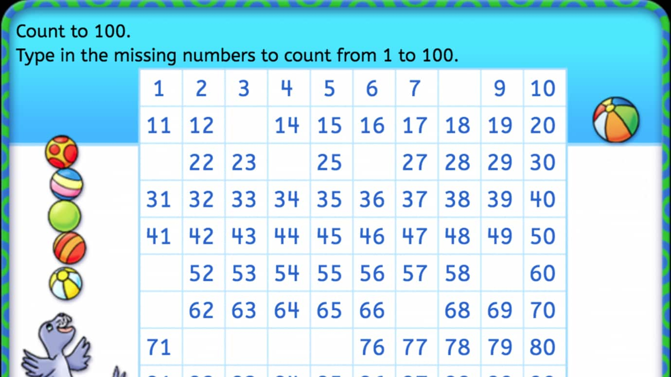 Complete the Chart: Counting 1-100