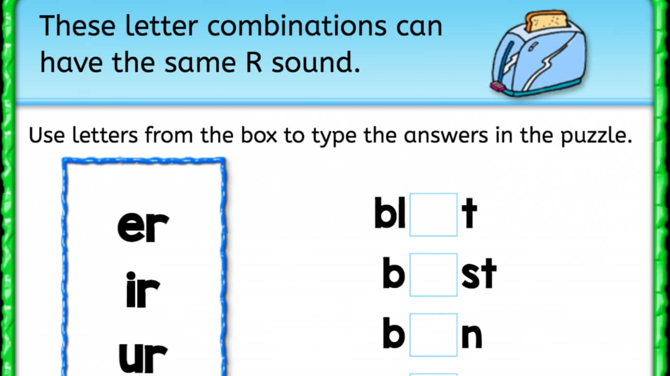 Workbooks sound energy worksheets : Finish the Word: 'er' 'ir' 'ur' Sounds | Interactive Worksheets ...
