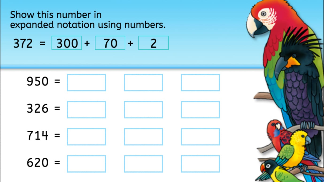 Expanded Notation | Interactive Worksheets | Anywhere Teacher