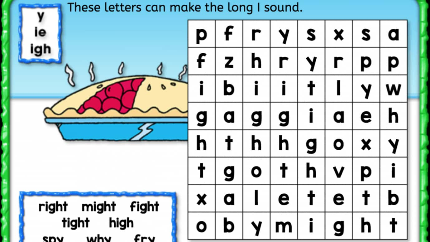Word Search: Long 'I'