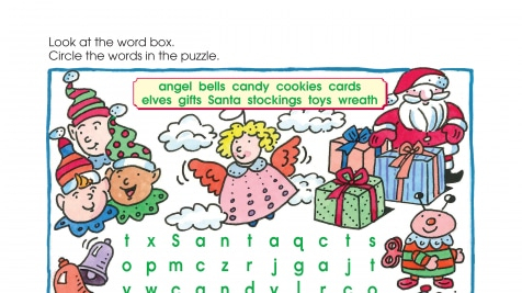 Holiday Tis the Season Word Search