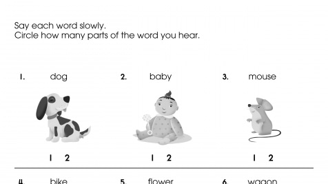 Practicing Syllables