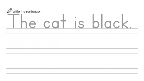 Writing a Sentence about Black