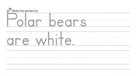 Writing a Sentence about White