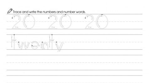 Trace & Write 20 and Twenty