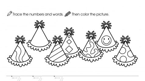 Trace, Write & Color 7