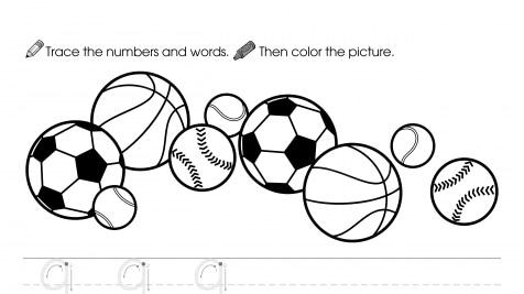 Trace, Write & Color 9