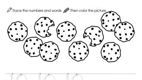 Trace, Write & Color 10