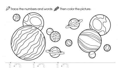 Trace, Write & Color 12