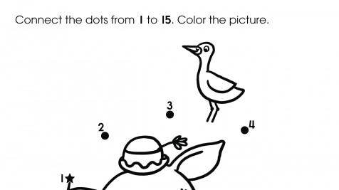 Dot-To-Dots 1-15 Hippopotamus