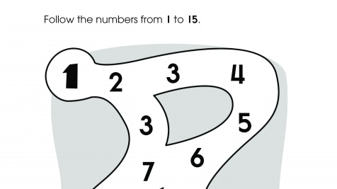 Numbers 1-15 Maze