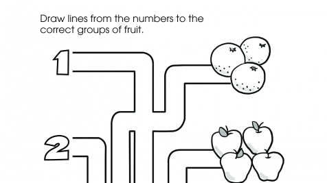 Number Groups 1-4 Maze